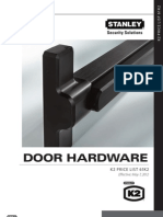 K2 Commercial Hardware 2012 Price Book