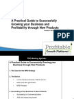 A Practical Guide to Growing Your Business and Profitability with New Products