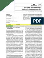 factores psico sociales. metodología de evaluacion