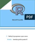 Recapitulare R