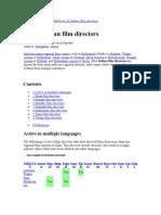 Indian film directors List of.