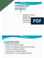 Presesntation on Unemployment by Krishana Kumar IIBR PUNE