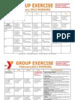 FEBRUARY 2013 Group Exercise Calendar