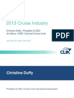 CLIA Cruise Industry 2012 presentation