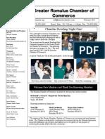 Greater Romulus Chamber of Commerce Newsletter February 2013