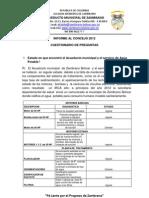 Informe Al Concejo 2012
