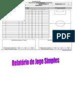 Relatório de jogo Simples