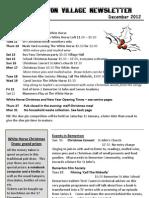 Quidhampton Village Newsletter, December 2012