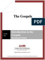 The Gospels - Lesson 1 - Forum Transcript