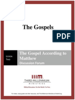 The Gospels - Lesson 2 - Forum Transcript