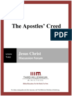 The Apostles' Creed - Lesson 3 - Forum Transcript