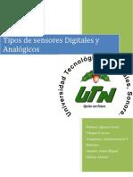 Tipos de Sensores Digitales