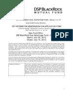 KIM+%26+Application+Form+ +DSP+BlackRock+Dual+Advantage+Fund+ +Series+5+ +36M