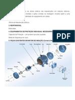 Procedimento de manutenção de motor elétrico