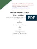 The Old Germanic Animal Ornamentation