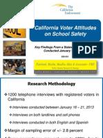 California Voter Attitudes on School Safety