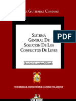 Sistema General de Solucion de Los Conflictos de Leyes