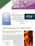 intuitivLEBEN Magazin | 2010_07 | Das Entzünden der vitalen Kraft, Intuitionstraining