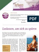intuitivLEBEN Magazin | 2010_08 | Loslassen, um sich zu spüren