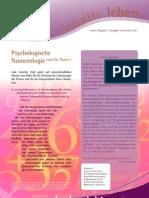 intuitivLEBEN Magazin | 2011_11 | Psychologische Numerologie nach Dr. Mazza ®