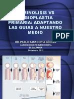Fibrinólisis vrs. Angioplastia Primaria