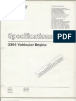 Ia Caterpillar Specifications 3304 VehicularEngine Text