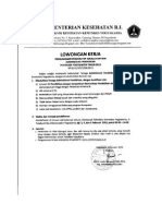 Kontrak Poltekkes Yogyakarta Tenaga Administrasi