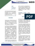 LA GESTIÓN PARTICIPATIVA DE LA SEGURIDAD ESCOLAR