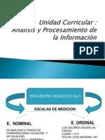 Análisis y Procesamiento de la Información