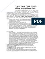 Penyaluran Harta Tidak Patuh Syariah Ke Baitulmal