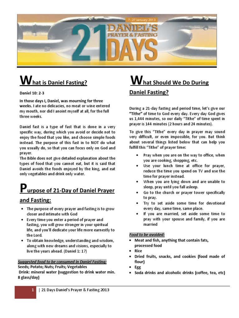 daniel fasting 21 days | Acts Of The Apostles | Prayer
