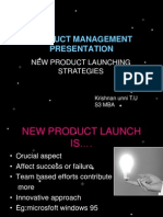 A presentation on product management on new product launching strategies