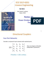 Notes 20 - Power Dividers and Couplers Part 2