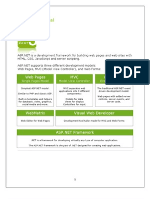 Tutorial: Web Pages MVC Web Forms