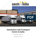 Automotive and Transport Sector in India October 2012