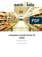 Consumer Goods Sector in India Monthly Update October 2012