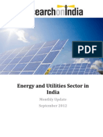 Energy and Utilities Sector in India Monthly Update September 2012