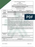 Infome Programa de Formación TituladaPRODUCCION DE JOYERIA