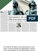 Claudio Magris Su Leonello Vincenti, Il Pioniere Della Letteratura Tedesca in Italia - Corriere Della Sera 01.02.2013