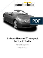 Automotive and Transport Sector in India August 2012