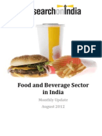 Food and Beverage Sector in India Monthly Update August 2012