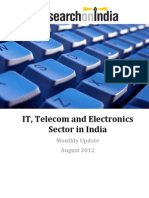 IT, Telecom and Electronics Sector in India Monthly Update August 2012