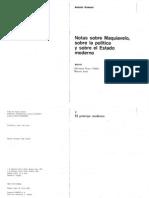 Gramsci, Notas Sobre Maquiavelo