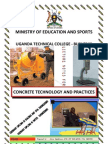 Concrete technology Lecture notes - Ordinary Diploma in Civil Engineering
