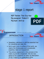 Transocean REP program - stage 1 report