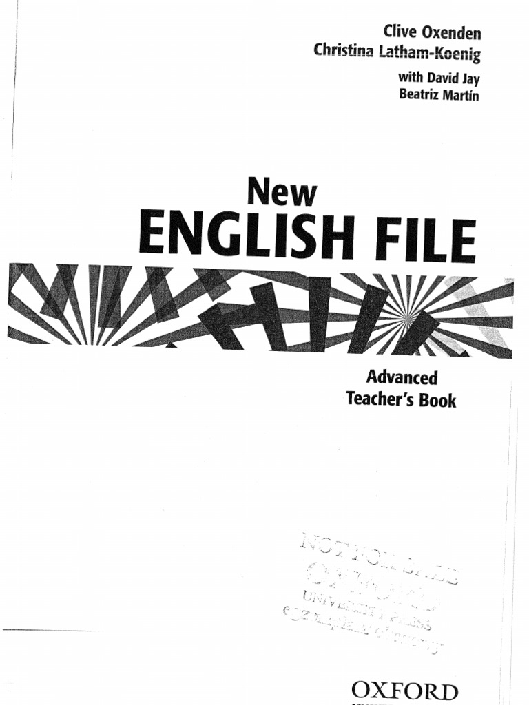 NEF Advanced Teacher's Book