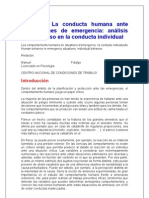 Conducta Humana Ante Situaciones de Emergencia