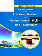 A Detailed Guideline To The Practical Method of Wudhu, Ghusal, Salaah & Tayammum Hanafi