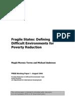 Fragile States Environment