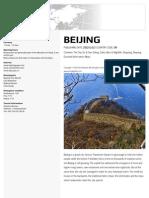 Beijing Travel Guide Book